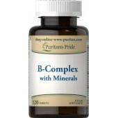 Puritan's Pride Vitamin B-Complex with Minerals 120 таб.