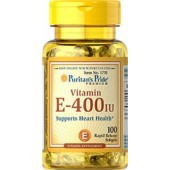 Puritan's Pride Vitamin E-400 IU 100 Софтгель антиоксидант.